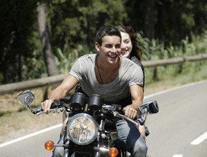 El chico de la moto