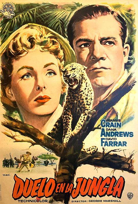 Duelo en la jungla (1954)