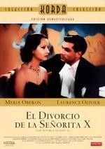 El divorcio de la señorita X (1938)