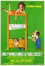 No firmes más letras, cielo (1972)